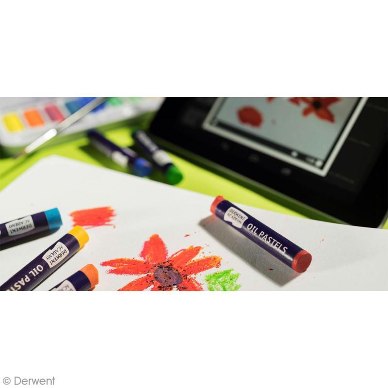 Boîte de Pastels à l'huile - Derwent Academy - 12 pcs - Photo n°4