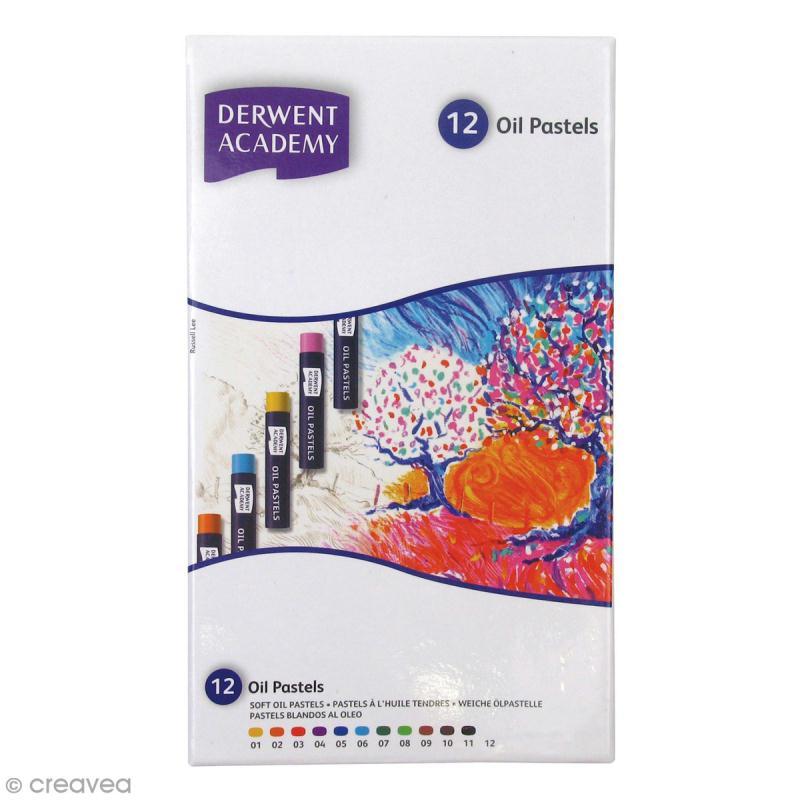Boîte de Pastels à l'huile - Derwent Academy - 12 pcs - Photo n°1