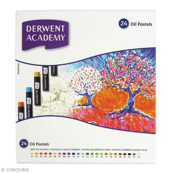 Boîte de Pastels à l'huile - Derwent Academy - 24 pcs - Photo n°1
