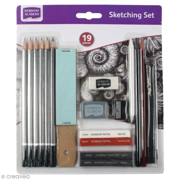 Set Dessin - Derwent Academy - 19 pcs - Photo n°1