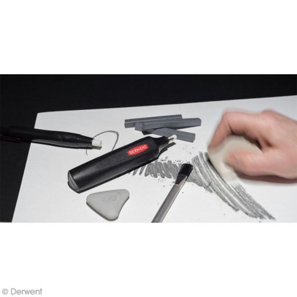 Gomme électrique Derwent et recharges - 10 pcs - Photo n°3