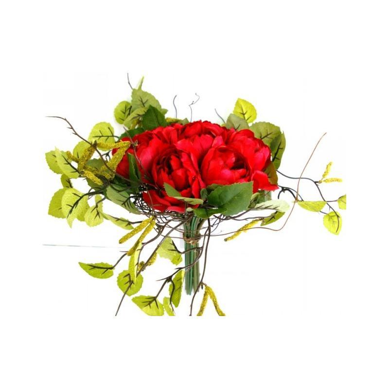 Bouquet de fleurs artificielles bouleau et renoncules for Fleurs et plantes artificielles haut de gamme