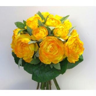 Bouquet fleurs artificielles Renoncules fleurs jaunes