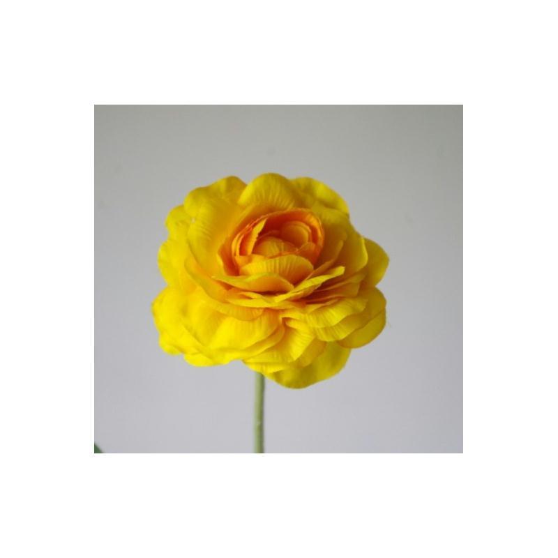 renoncule artificielle h59cm jaune fleur 9cm fleurs. Black Bedroom Furniture Sets. Home Design Ideas