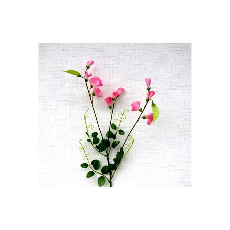 pois de senteur artificiel h75cm fleurs artificielles roses fleurs artificielles haut de gamme. Black Bedroom Furniture Sets. Home Design Ideas