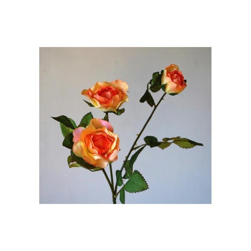 roses artificielles h43cm orange 3 petites fleurs fleurs. Black Bedroom Furniture Sets. Home Design Ideas