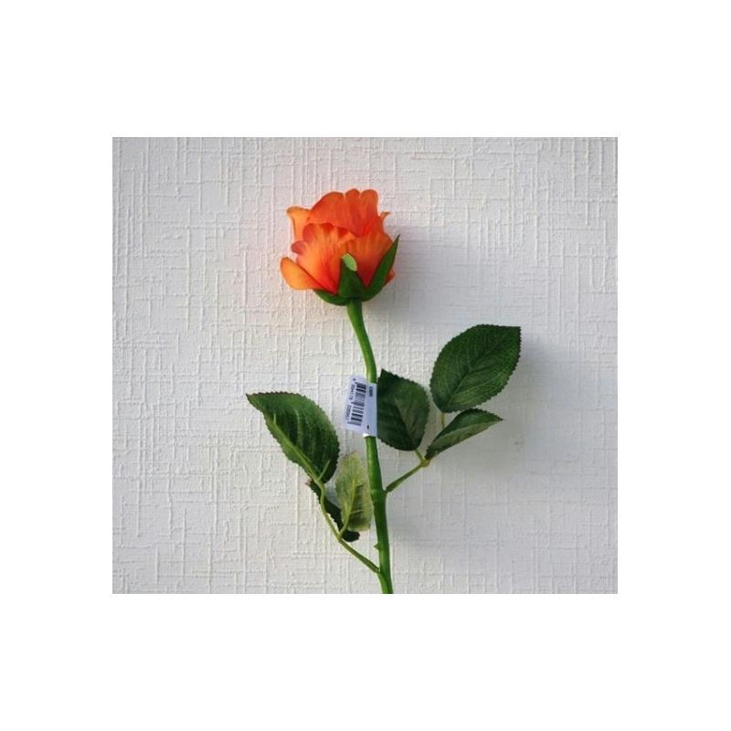 rose artificielle h60cm orange fleur bouton fleurs. Black Bedroom Furniture Sets. Home Design Ideas
