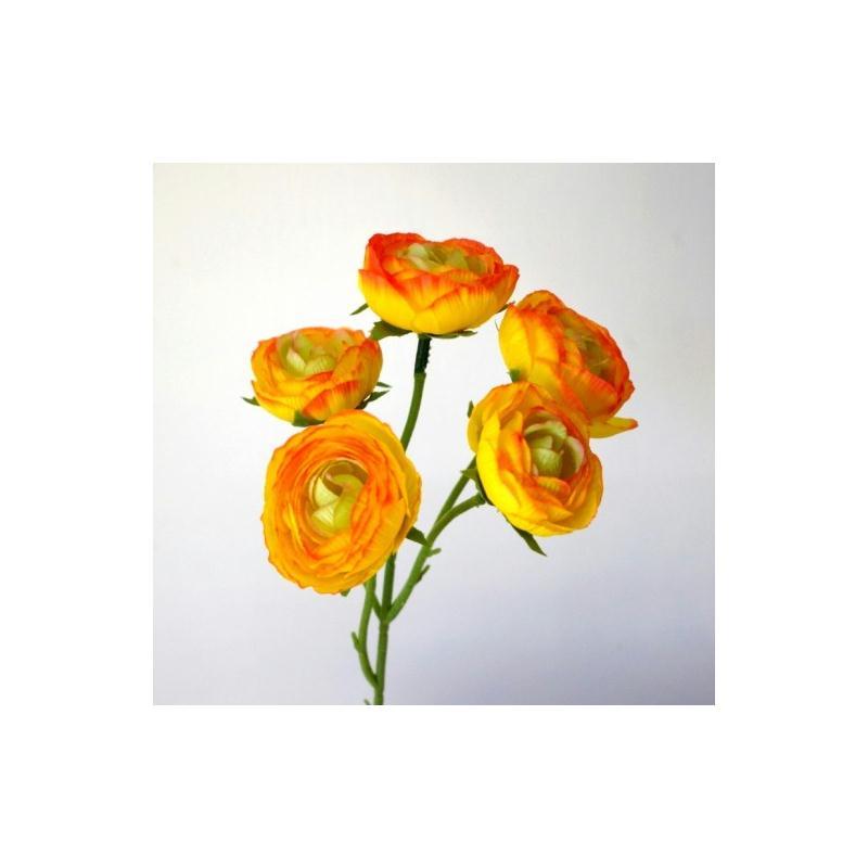 renoncules artificielles h28cm jaune 5 fleurs 5cm. Black Bedroom Furniture Sets. Home Design Ideas