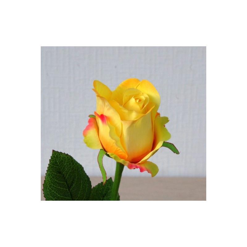 rose artificielle h60cm jaune fleur bouton fleurs. Black Bedroom Furniture Sets. Home Design Ideas