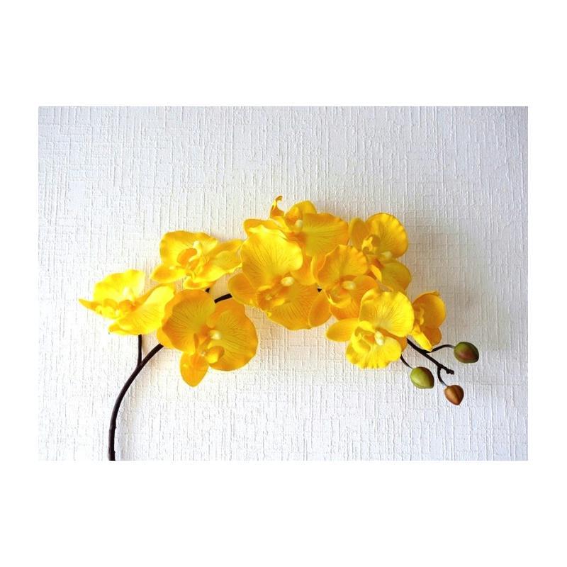 orchid e artificielle d co h103cm jaune 9 fleurs artificielles fleurs artificielles haut de. Black Bedroom Furniture Sets. Home Design Ideas