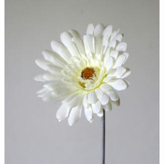 Gerbera artificielle H56cm blanc fleur Ø11cm