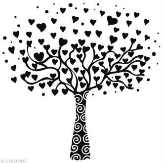 Tampon Love Arbre Coeur