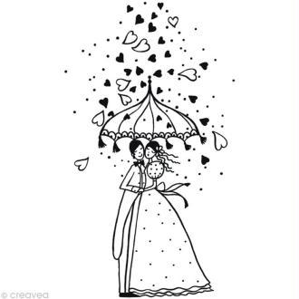 Tampon Mariage Mariage Pluvieux