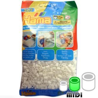 Perles Hama Midi diam. 5 mm - blanc x1000