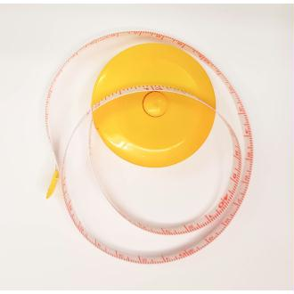 Mètre Ruban Jaune Retractable 150cm Couleur au choix 1,5m Couture mm/cm et inch/pouce
