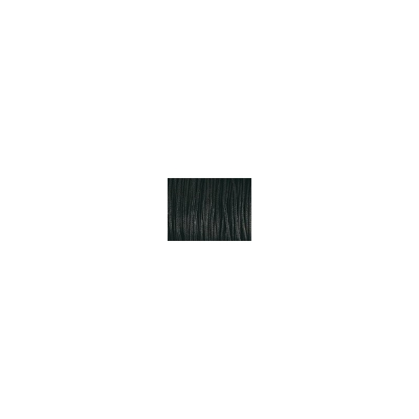 Cordon ciré noir 5M x 1mm de diamètre - Photo n°1