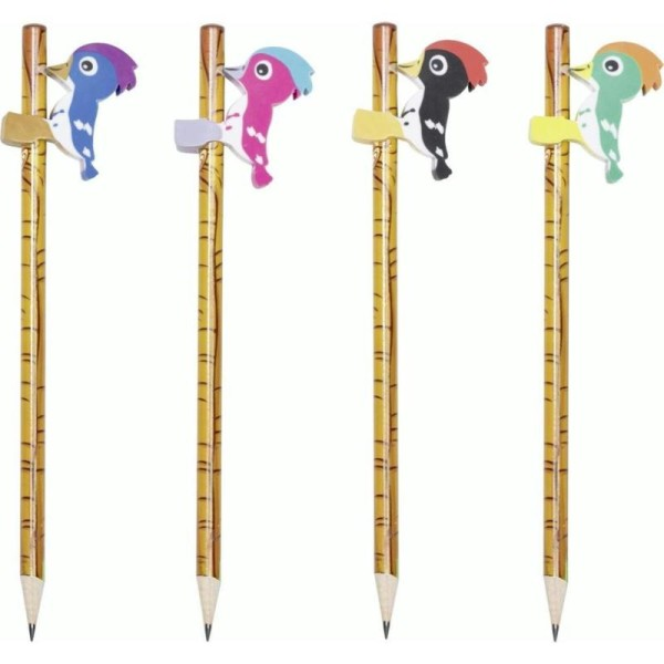 1 Crayon à papier avec gomme