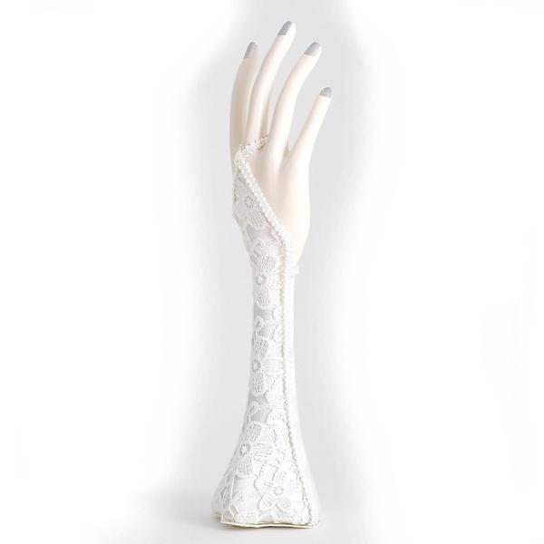 Grande main porte bijoux et bagues blanche Blanc - Photo n°2