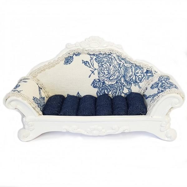 Porte bijoux bagues canapé sofa bleu Bleu - Photo n°1