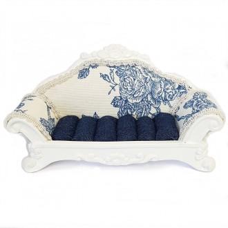 Porte bijoux bagues canapé sofa à pois - Présentoirs pour bijoux Bleu