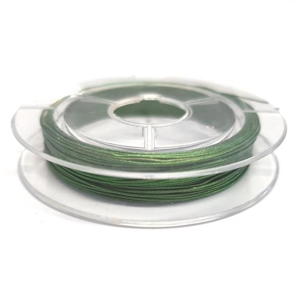 Accessoires création fil câblé 0.38 mm en bobine de 10 mètres Vert - Photo n°1