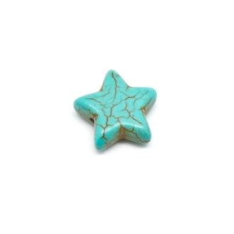 5 Perles étoile En Pierre Naturelle Imitation Turquoise
