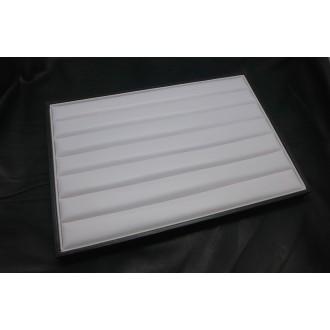 Présentoir Bague, Porte Bijoux En Simili Cuir Blanc Et Noir 35cm X 24cm - Rangement Bague - Baguier