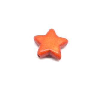 5 Perles étoile En Pierre Naturelle Orange Imitation Turquoise