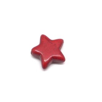 5 Perles étoile En Pierre Naturelle Rouge Imitation Turquoise