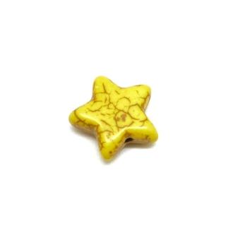 5 Perles étoile En Pierre Naturelle Jaune Imitation Turquoise