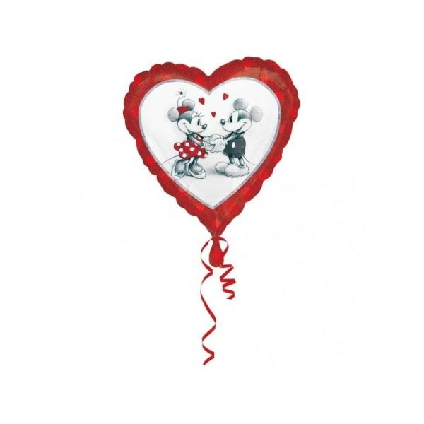 Ballon Métallique Mickey et Minnie in Love - Photo n°1
