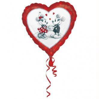 Ballon Métallique Mickey et Minnie in Love