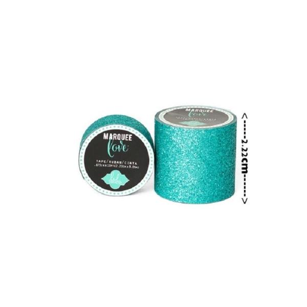 Masking tape / Washi tape fantaisie Bleu sarcelle brillant - Photo n°1