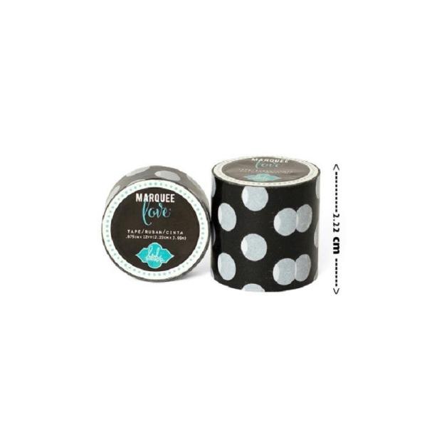 Masking tape / Washi tape fantaisie noir et blanc - Photo n°1