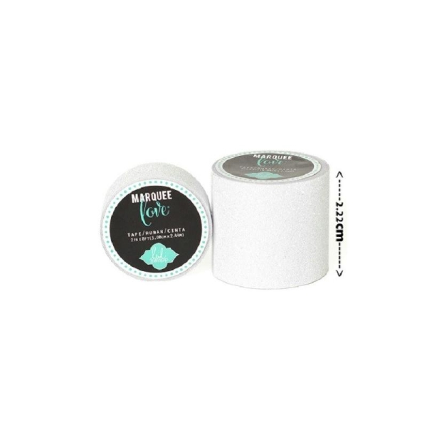 Masking tape / Washi tape fantaisie blanc brillant - Photo n°1