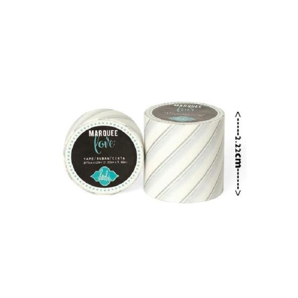 Masking tape / Washi tape fantaisie blanc et argent - Photo n°1