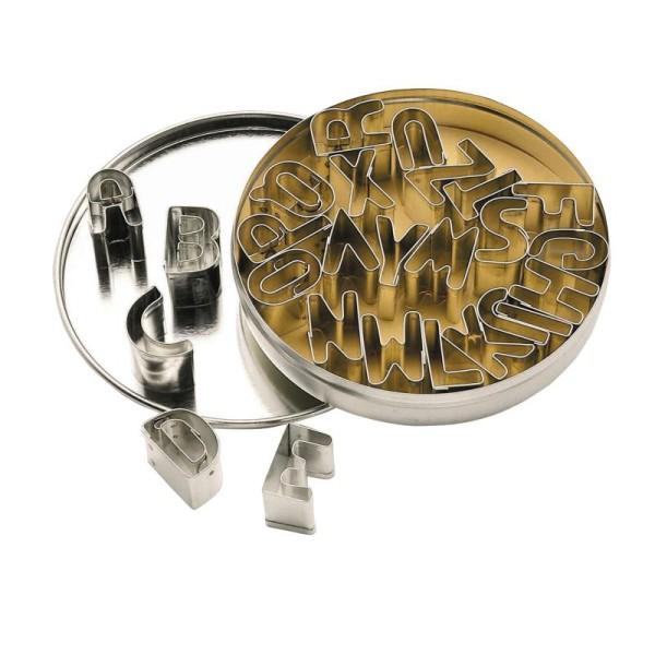 Set d'emportes pièces en métal Alphabet - boîte coffret - Photo n°1