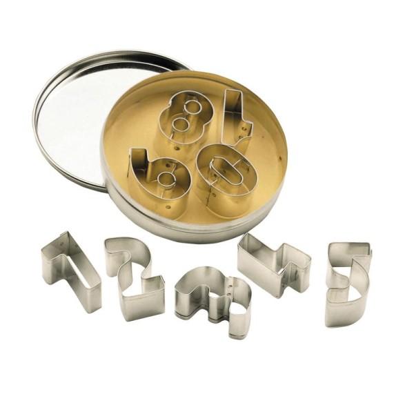 Set d'emportes pièces en métal chiffres - boîte coffret - Photo n°1