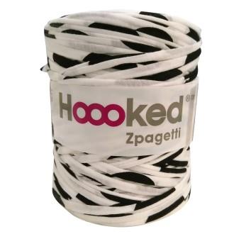 Zpagetti Hoooked DMC - Pelote jersey Mix noir et blanc - 120 mètres
