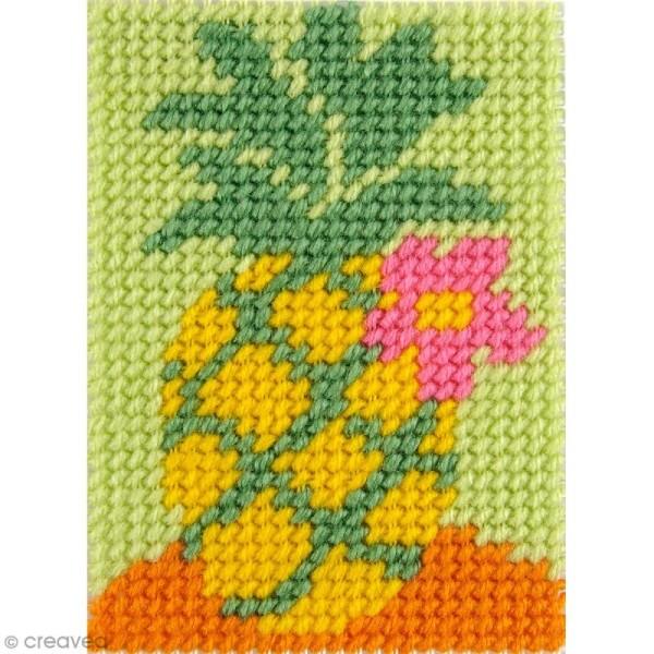 Kit canevas pour enfant - L'ananas - Photo n°1