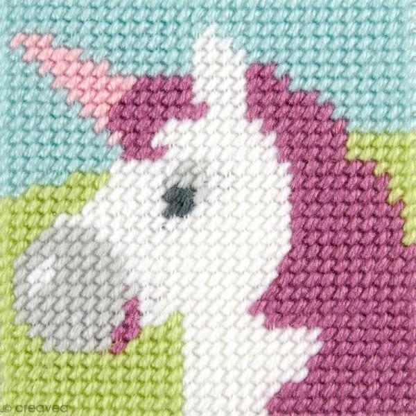 Kit canevas pour enfant - La licorne - Photo n°1
