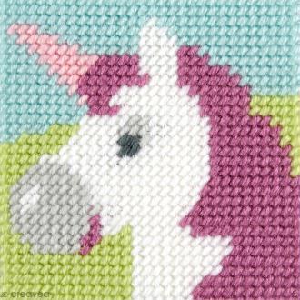 Kit canevas pour enfant - La licorne