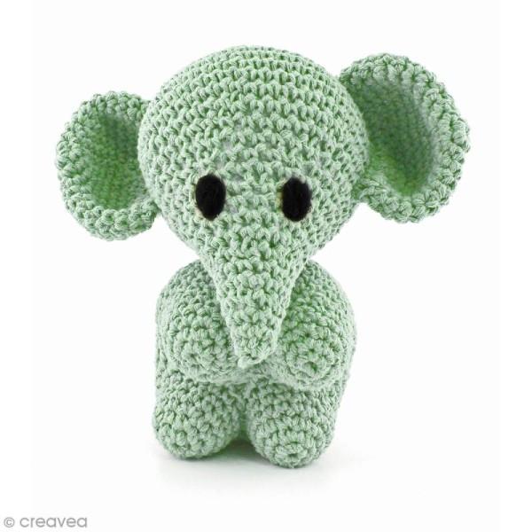 Kit crochet Amigurumi Hoooked - Mo l'éléphant - 4 pcs - Photo n°1