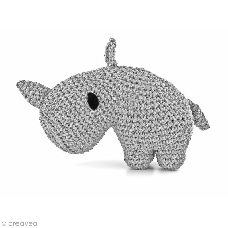 Kit crochet Amigurumi Hoooked - Dex le Rhino - 4 pcs - Photo n°1