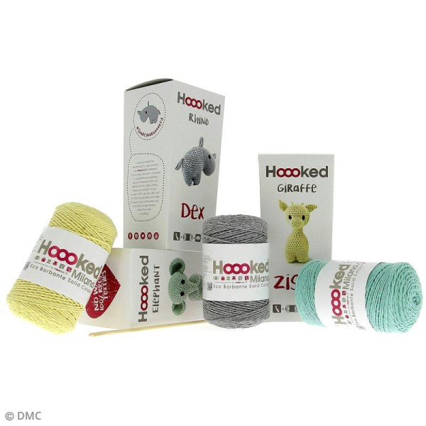 Kit crochet Amigurumi Hoooked - Ziggy la girafe - 4 pcs - Photo n°3