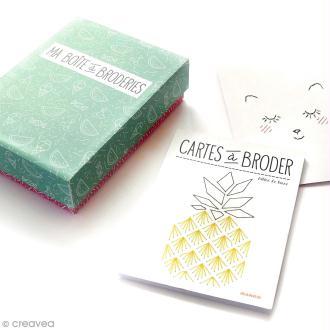 Coffret livre et carte à broder - Hélène Le Berre - Mango Editions
