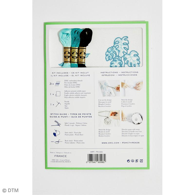 Kit broderie traditionnelle - DMC Magic Paper - Cactus Collection - 5 pcs - Photo n°4