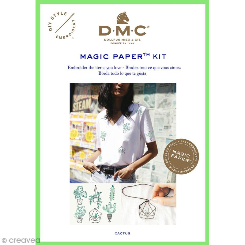 Kit broderie traditionnelle - DMC Magic Paper - Cactus Collection - 5 pcs - Photo n°1