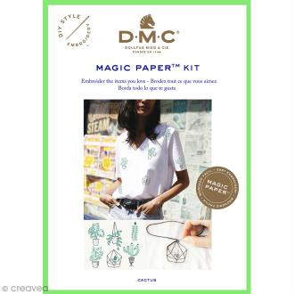 Kit broderie traditionnelle - DMC Magic Paper - Cactus Collection - 5 pcs