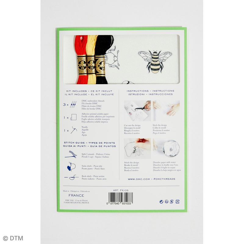 Kit broderie traditionnelle - DMC Magic Paper - Insect Collection - 5 pcs - Photo n°4